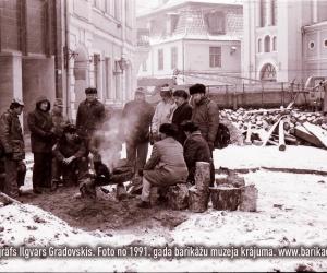 1991. gada barikādes, fotogrāfs Ilgvars Gradovskis
